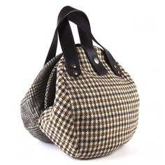 Flat Cap Bag by girlwithbeads - recycled fashion