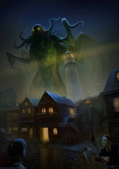 """Cthulhu: the name of the creature Cthulhu—a central figure in Lovecraft literature[1] and the focus of Lovecraft's short story """"The Call of Cthulhu"""" (first published in pulp magazine Weird Tales in 1928)"""
