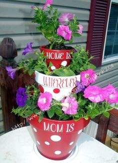 Tiered Flower Pots | DIY Mothers Day Crafts for Grandma