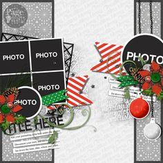 "December Scrappy Friends Christmas ""Cartoon"" Challenge and November Winners Scrapbook Sketches, Card Sketches, Scrapbooking Layouts, Sketch 4, Days Until Christmas, Very Merry Christmas, Christmas Cards, November, Happy December"