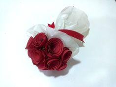 Mini bouquet em papel