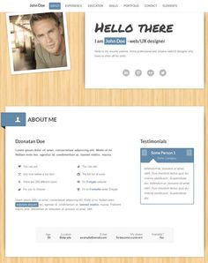 creative resume templates interactive template for your portfolio resume cv business or agency