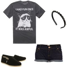 """Grumpy Cat Summer Outfit - LOL!"" by sophia-n on Polyvore"