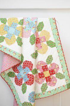 Flower Garden Pattern by ellis & higgs - Nadra Ridgeway's pattern using Backyard Roses.