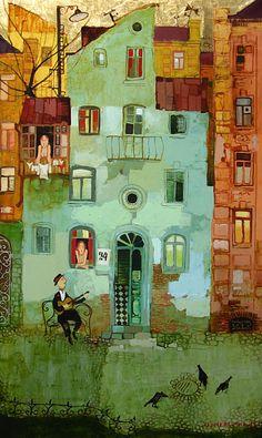 Imerlishvili, Otar  Serenade    2009  Gold, Oil on Canvas