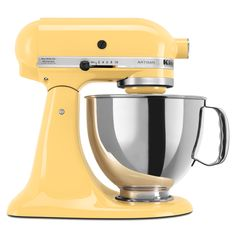 Cut down on the time it takes to make your famous culinary confections with this large KitchenAid artisan five-quart mixer. You can concentrate on preheating the oven or greasing a pan while the ingredients mix perfectly in the mixer.