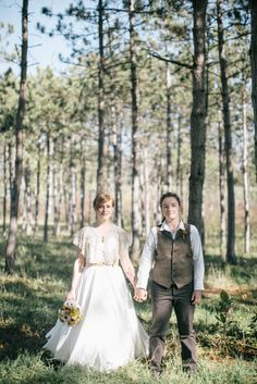 rustic nature autumn same sex wedding25