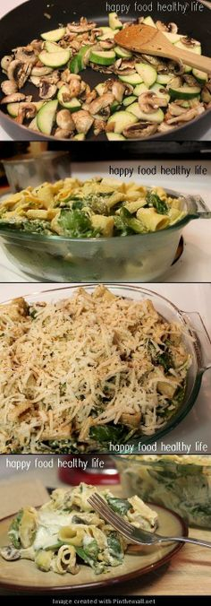 Creamy Zucchini and Spinach Rigatoni - Love with recipe