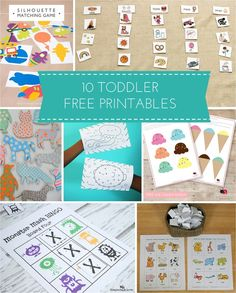 10 Toddler Free Printables for Learning (and Fun!)