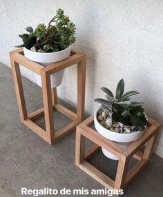 Modern Plant Stand, Diy Plant Stand, Diy Home Decor, Room Decor, Art Decor, Diy Outdoor Kitchen, Outdoor Kitchens, Diy Kitchen, Wooden Plant Stands