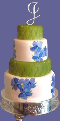 like the quilting on the cake... not the flowers