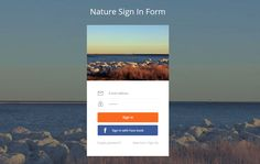 Nature Signin Form Flat Responsive Widget Template