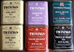 Vintage Twinings tea tins
