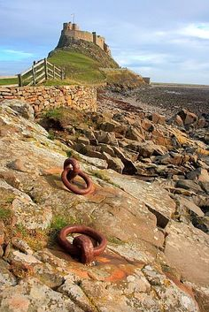 """Mooring Irons at Holy Island, Northumberland, UK - well it's at the """"edge"""" of Reiver country!"""