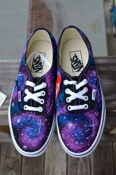 Galaxy VANS. $100.00, via Etsy.