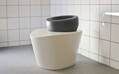 ergonomic toilet shifting users from sitting to squatting