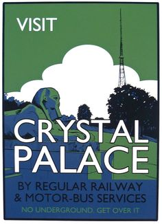 Beyond Thrilled - illustrations, cartoons and screen prints: Screenprint - Visit Crystal Palace