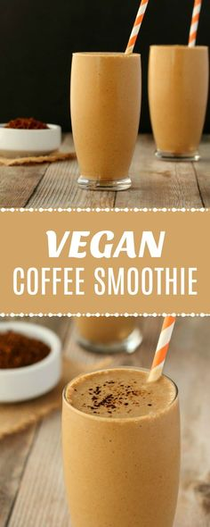 Coffee Smoothie - Rich and Creamy! - Smooth and creamy vegan coffee smoothie. Simple recipe that is ready in 5 minutes, per -Vegan Coffee Smoothie - Rich and Creamy! - Smooth and creamy vegan coffee smoothie. Smoothie Bowl Vegan, Smoothie Detox Plan, Coffee Smoothie Recipes, Smoothie Fruit, Vegan Smoothie Recipes, Raspberry Smoothie, Breakfast Smoothies, Coffee Recipes, Healthy Smoothies