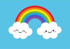 Nubes by the-box-factory on DeviantArt Rainbow Cloud, Rainbow Theme, Rainbow Birthday, Rainbow Unicorn, Over The Rainbow, Unicorn Party, Kawaii Drawings, Easy Drawings, Rainbow Cartoon
