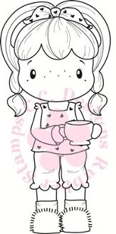 "C.C. Designs Swiss Pixie ""Coffee Birgitta"" Rubber Stamp"