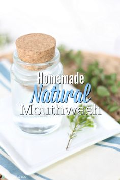 Homemade Mouthwash is a refreshing, bacteria-preventative, alkalizing, all-natural mouthwash that is good for you and is inexpensive. Made with just a few ingredients, this DIY mouthwash is a simple natural recipe. Homemade Mouthwash, Belleza Diy, Homemade Body Butter, Best Teeth Whitening, Few Ingredients, Oral Health, Health Advice, Natural Living, Diy Beauty