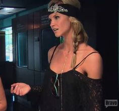 Meghan Edmond's Black Lace Off the Shoulder Dress | http://www.bigblondehair.com/real-housewives/rhoc/meghan-edmonds-black-lace-off-the-shoulder-dress/