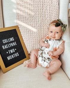"""Kelsey Taylor Grimm on Instagram: """"• TWO MONTHS • Collins, you are a dream baby girl. You're so easy going, you sleep well, eat well and most of all, you tolerate your…"""" Anthem Lights, Dream Baby, Sleep Well, Grimm, Eating Well, Wellness, Lettering, Easy, Instagram"""