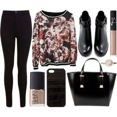street style by sisaez on Polyvore featuring moda, Miss Selfridge, Zara, Ted Baker, Sophie Bille Brahe, The Case Factory and NARS Cosmetics
