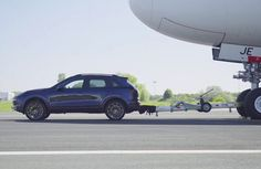 A completely standard Porsche Cayenne has successfully towed an Air France Airbus weighing Cayenne S Diesel: Fuel consumption combined – km; 215 – 209 g/km Cayenne Turbo S: Fuel consumption combined km; Cayenne S, Cayenne Turbo, Airbus A380, Turbo S, Toyota Tundra, Air France, Electric Car, World Records, Porsche