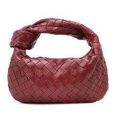 Bottega Veneta Jodie Mini Leather Tote in Red Calf Leather, Leather Shoulder Bag, Shoulder Bags, Fashion Bags, Fashion Accessories, Hair Scarf Styles, Apocalyptic Fashion, Luxury Purses, Bottega Veneta