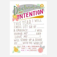 Declaration of Intention - Print.