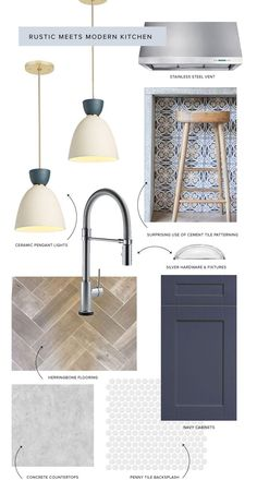 WD x Delta Faucet: Kitchen Moodboard Design! Back in October, we teamed up with our friends at Delta Faucet for a unique giveaway that included a mood board designed by Wit Mood Board Interior, Interior Design Boards, Moodboard Interior Design, Interior Design Themes, Kitchen And Bath, Faucet Kitchen, Bathroom Faucets, Concrete Bathroom, Home Design