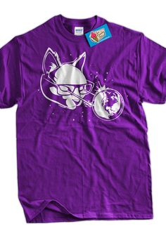 Meme Funny shirt Cat in Space lasers nerd hipster by IceCreamTees, $14.99