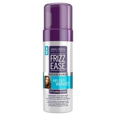 Frizz Ease Styling Foam - John Frieda __ If you've sworn off hot tools—or are just looking to catch a few extra minutes of sleep in the morning—this nonsticky styling foam keeps waves and curls soft, supple, and completely frizz-free when you air-dry. Revlon Colorburst, Sally Hansen, Perfect Hair, John Frieda, Scrunched Hair, Sephora, Mousse, Schaum, Natural Curls