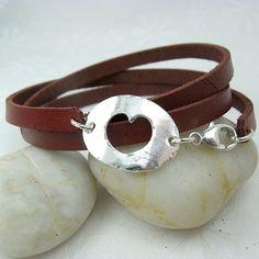 hole hearted leather wrap bracelet | Cloverleaf Jewelry