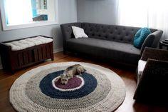 Hækleopskrift gulvtæppe