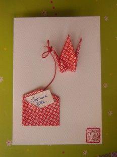 Carte de voeux origami naissance  : Cartes par yiyou