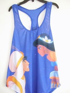 New w Tags Disney Aladdin & Princess Jasmine Collectible Tank Top Shirt Sz XS-XL