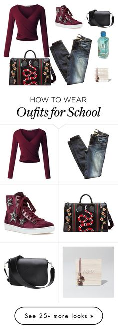 """""""Untitled #1254"""" by spectrearcane on Polyvore featuring LE3NO, Marc by Marc Jacobs, Lola Cruz, Gucci, Kreafunk, casualoutfit, CasualChic and airportstyle"""