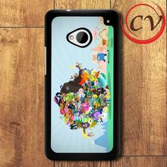 Adventure Time HTC One M7 Black Case