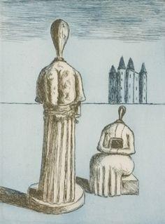 Dualité les muses inquietantes (1975) Giorgio de Chirico