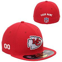 Men's New Era Kansas City Chiefs Customized Onfield 59Fifty Football Structured Fitted Hat