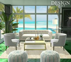 Very proud of this design.got 5 ⛤⛤⛤⛤⛤ Outdoor Sofa, Outdoor Furniture Sets, Outdoor Decor, Design Home App, House Design, House Rooms, Industrial Style, Game Room, Living Room Designs