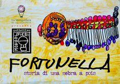 """Collettivo Mongolfieri. < Storia di una Zebra a Pois > pag.01, da un racconto di Anna Spiazzi (1992). Edizioni a cura del Centro Diurno Disabili """"La Zebra a Pois"""", Soc.Coop.Sociale ONLUS La Mongolfiera, Brescia © 2016. http://www.lamongolfiera.brescia.it/novita.php?IdNews=29 / info@lamongolfiera.brescia.it"""