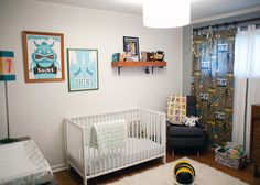 concert posters in nursery- love