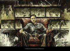 The Governor from The Walking Dead. Art by JP Valderrama.