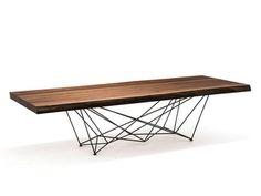Rechteckiger Tisch aus Walnuss GORDON DEEP WOOD