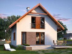 Wizualizacja MT Jagoda  CE House Viewing, Gable Roof, House Rooms, Traditional House, Home Fashion, House Plans, New Homes, Farmhouse, House Design