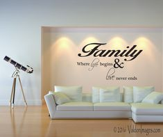 Family is everything wall decal by ValdonImages #quotes #quotewalldecal #homedecor #livingroomdecor #family #bedroomdecor #familytree