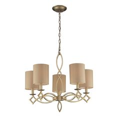 Westmore Lighting Spezia 25-in 5-Light Aged Silver Shaded Chandelier
